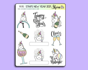 Star's New Year 2021 Deco Stickers