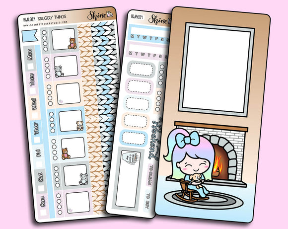 Snuggly Things - Hobonichi Weeks Sticker Kit