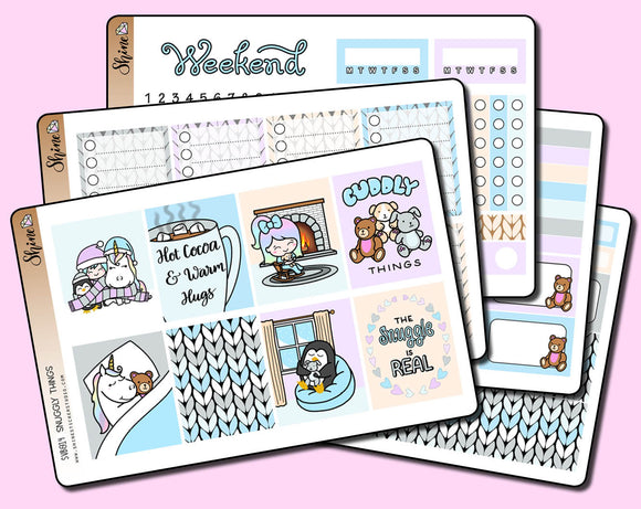 Snuggly Things - Vertical Weekly Sticker Kit