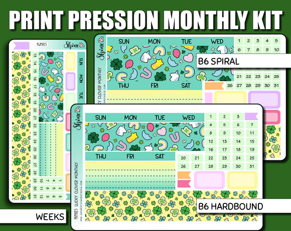 Undated Lucky Clover Monthly Kit - Print Pression