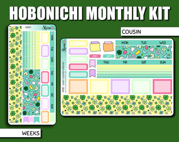 Undated Lucky Clover Monthly Kit - Hobonichi