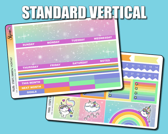 Undated Star's Rainbow Monthly Kit - Standard Vertical