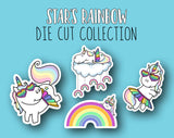 Star's Rainbow Sticker DIE CUT Collection