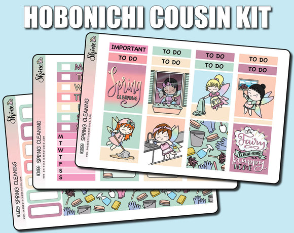 Spring Cleaning with the Faerie Time Girls - Hobonichi Cousin Sticker Kit