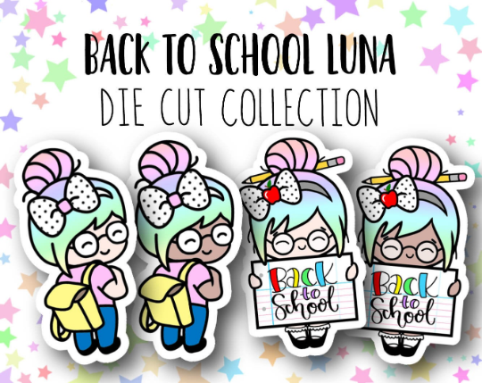 Back to School Luna Die Cut Collection