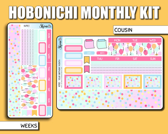 Undated Birthday Monthly Kit - Hobonichi
