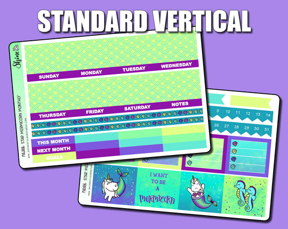 Undated Mermicorn Monthly Kit - Standard Vertical