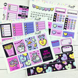 FOIL Luna & Star Galentines - EC Weekly Sticker Kit