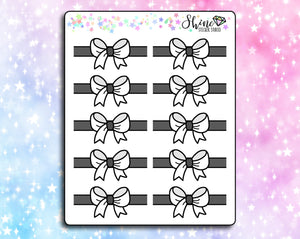 Black & White Bow Headers