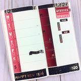 CLEARANCE FOIL New Years  - Hobonichi Weeks Sticker Kit