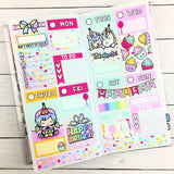 Luna & Star Birthday - Mini Sticker Kit Print Pression Weeks