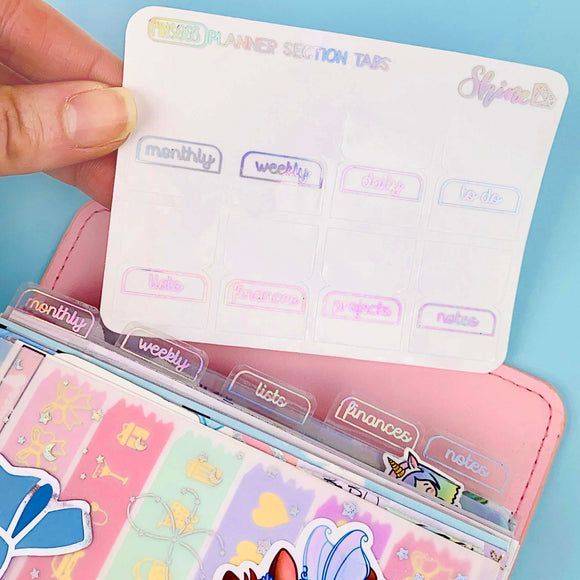 FOIL Clear Planner Section Tabs