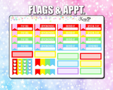 August 2019 Monthly Kit ECLP Planner Stickers Erin Condren Life Planner ECLP