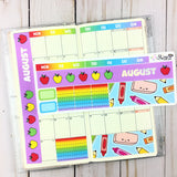 FOIL July-December Hobonichi Weeks Monthly Sticker Kit