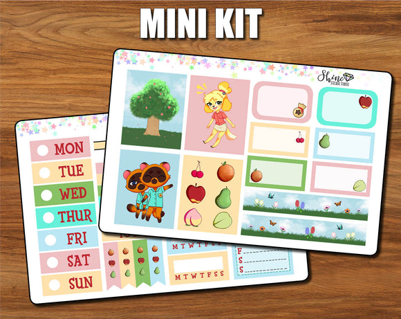 Animal Crossing - Mini Sticker Kit Print Pression