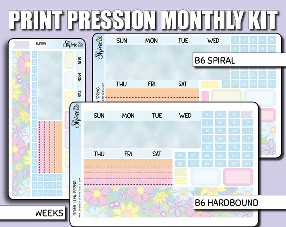 Undated Spring Monthly Kit - Print Pression