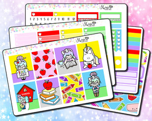Luna & Star Back to School - Weekly Sticker Kit