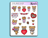 Beary In Love Deco Stickers