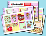 Beary In Love Vertical Weekly Sticker Kit