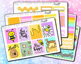 Bee Happy Weekly ECLP Sticker Kit