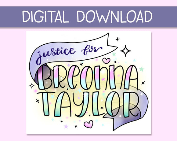 DIGITAL DOWNLOAD Justice for Breonna Taylor