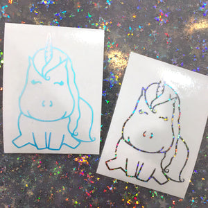 Star, the Unicorn, Holographic Vinyl Decal Stickers
