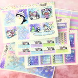 FOIL Luna & Star Whimsical Winter - Weekly Sticker Kit
