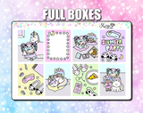 Luna & Star Slumber Party - Weekly Sticker Kit