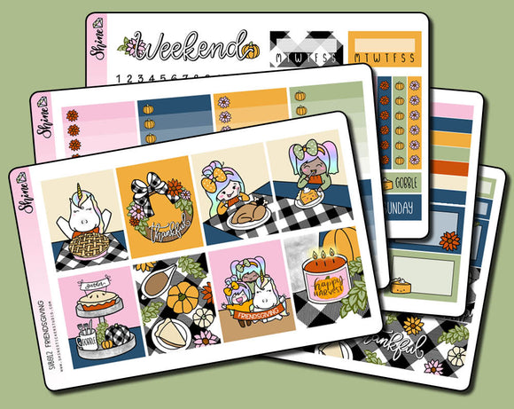 Friendsgiving - Vertical Weekly Sticker Kit