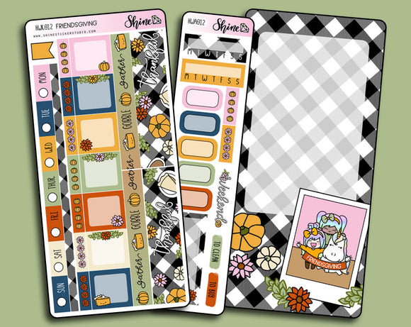 Friendsgiving - Hobonichi Weeks Sticker Kit