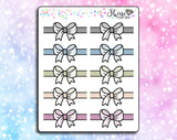 Bow Header Divider Stickers