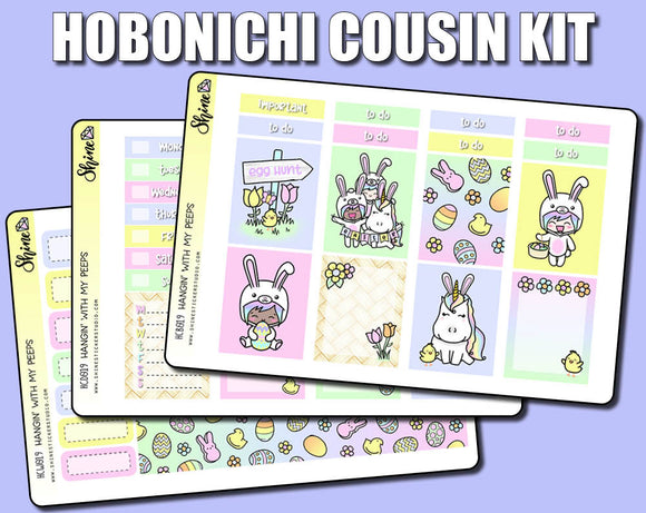 Hangin' with my Peeps Hobonichi Cousin Sticker Kit