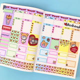 Beary In Love Hobonichi Cousin Sticker Kit