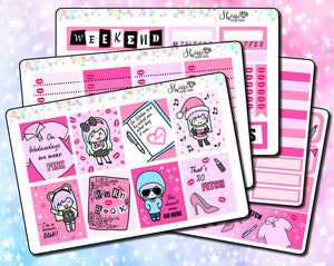 Luna Mean Girls Weekly Sticker Kit