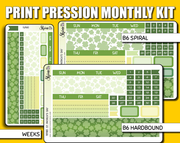 Undated St. Patrick's Day Monthly Kit - Print Pression