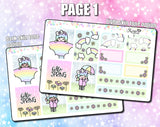Luna Hello Spring - Mini Sticker Kit Print Pression Weeks