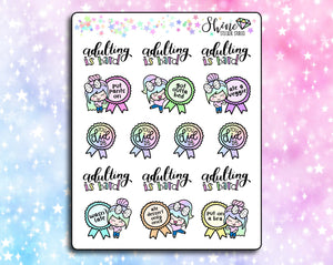 Luna Adulting Award Stickers
