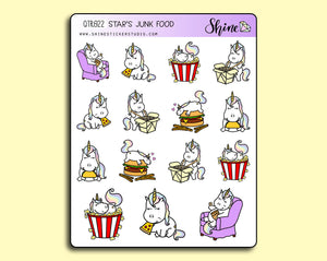 Star's Junk Food Stickers - Star the Unicorn