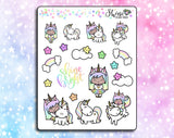 Luna & Star Shine Bright Unicorn Deco Stickers