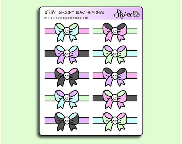 Spooky Bow Header Stickers