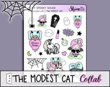 Spooky Squad - The Modest Cat Collab - Stickers