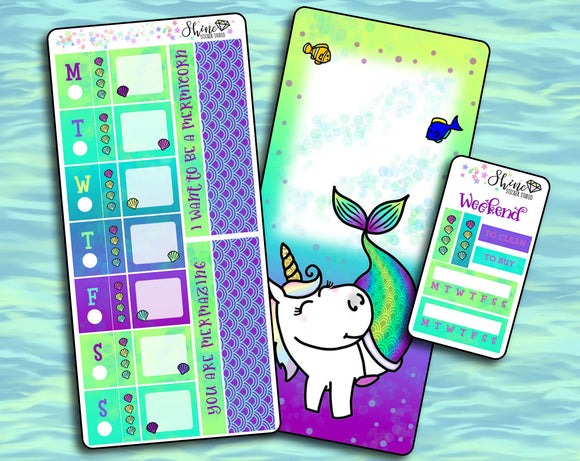 Star Mermicorn - Hobonichi Weeks Sticker Kit
