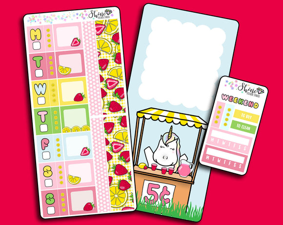 NEW Starberry Lemonade - Hobonichi Weeks Sticker Kit