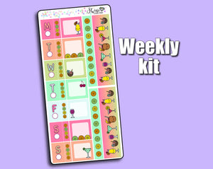 Star's Cocktail Party for One - Hobonichi Weeks Sticker Kit