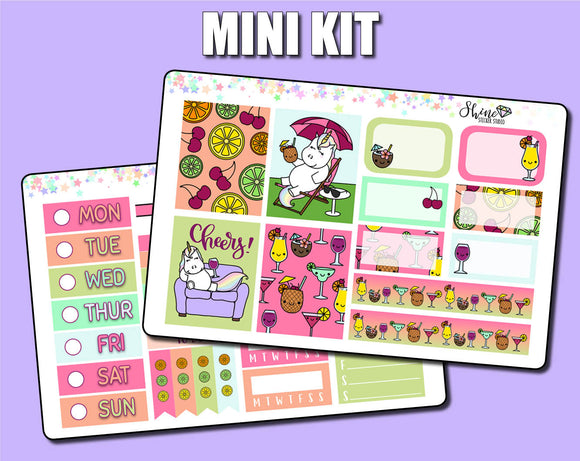 Star's Cocktail Party for One - Mini Sticker Kit Print Pression