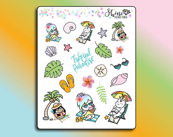 Luna & Star Tropical Paradise Deco Stickers