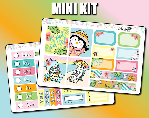 Tropical Paradise - Mini Sticker Kit Print Pression Weeks