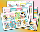 Luna & Star Tropical Paradise - Weekly Sticker Kit