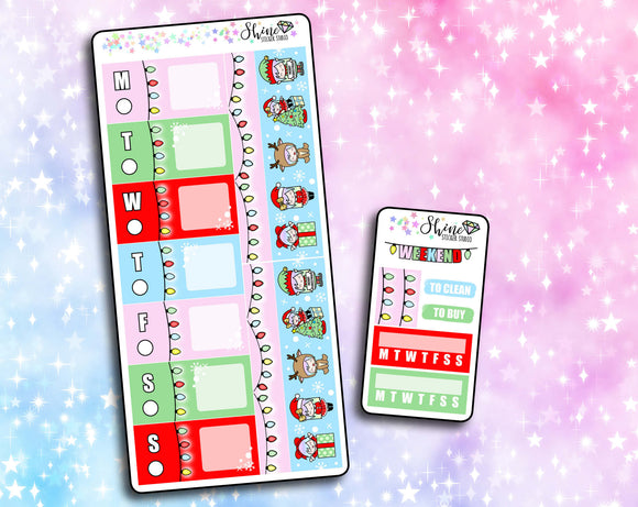 Luna Christmas - Hobonichi Weeks Sticker Kit