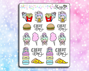 Luna Cheat Day - Planner Stickers